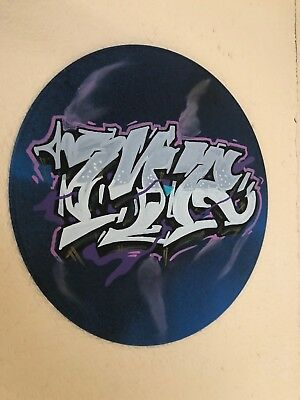 Graffiti Painting Original Vinyl Record Art Work Urban Lettering Street Acrylic