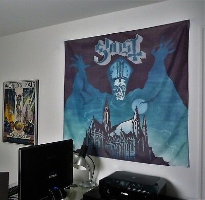 GHOST heavy metal band Opus Eponymous HUGE 4X4 BANNER fabric poster tapestry cd