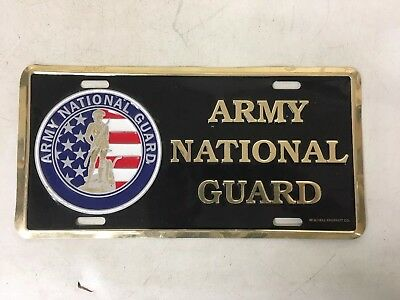 """Army National Guard"" Vintage Novelty Metal License Plate Military Army Navy Air"