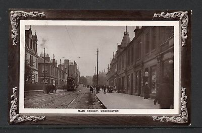 1912 Main Street Uddingston Posted RP Card With Tram Etc As Scanned