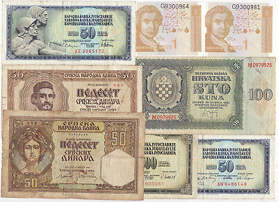 LOT OF 8 pcs. - YUGOSLAVIA - from UNC to FINE