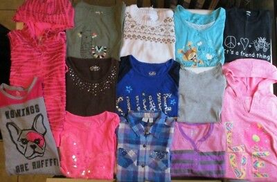 Girls clothes lot size 10 Girls long sleeve shirts size 10 Justice Justice