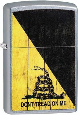 "Zippo ""Don't Tread On Me-Gadsden Flag"" Lighter, Street Chrome Finish,  29842"