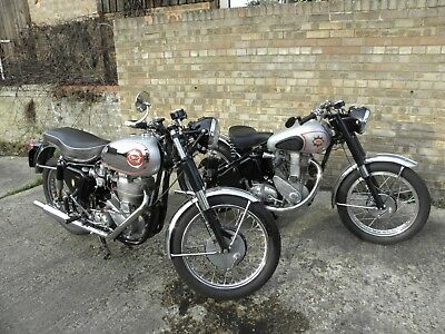 BSA GOLDSTAR DBD34  VERY CORRECT EASY START GP CARB CLIP ONS etc WITH IT