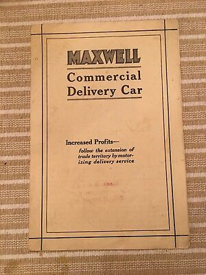 Maxwell Delivery Car- 1917