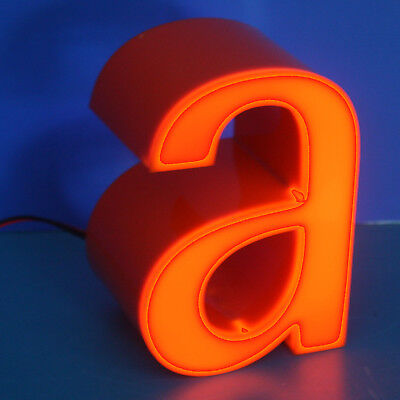 "Stylischer Buchstabe 3D ""a""  Mini size Leuchtreklame * inkl. LED-Ausleuchtung"