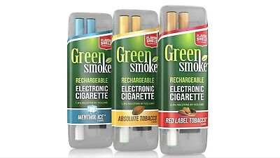 Green Smoke Rechargeable Electronic Cigarette Full  Kit Each Sale 1.8%  2.4%