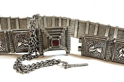 Antique Original Solid .800 Silver OTTOMAN EMPIRE Belt - Beautiful Detail