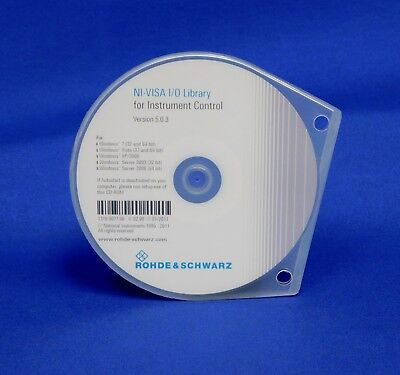 Rohde & Schwarz NI VISA I O Library for Instrument Control Software