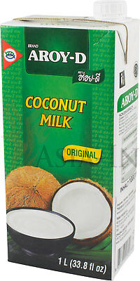 !ASIA-IN DEAL! 2 Kartons Aroy-D Kokosnussmilch 24 x 1L, 24L Kokosmilch Coconut