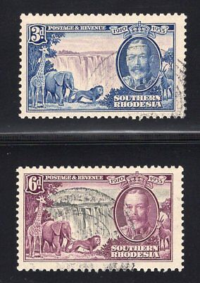 Southern Rhodesia. SC#35-36. Used, Very Fine.