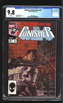 Punisher Limited Series 2 CGC 9.8 NM/MINT Mike Zeck cover Netflix Marvel 1986