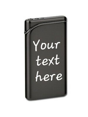 Personalised Text Engraved Metal Lighter Customized Polished Heart + Gift