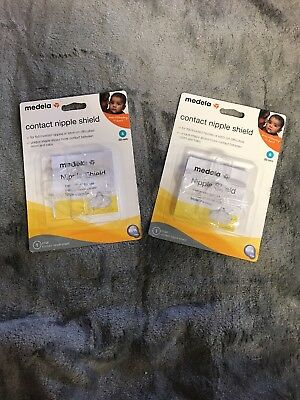 Medela Contact Nipple Shield 20mm SMALL NEW!  LOT OF 2