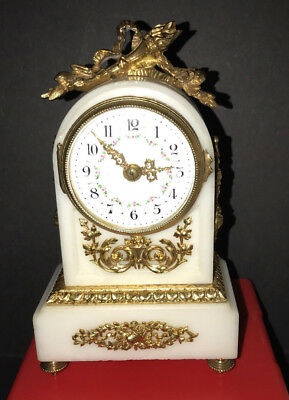 French Time Only Boudoir Clock