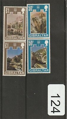 Gibraltar 1971 Decimal Currency 50p Pair & 1 Pound Pair MNH