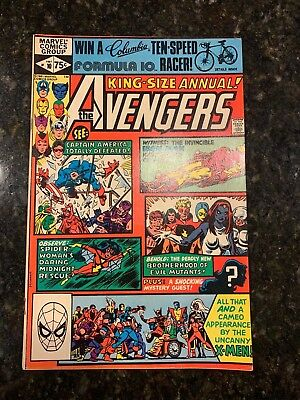 The Avengers King Size Annual #10 1st Appearance of Rogue (1981, Marvel) KEY