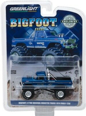 Greenlight Original  Bigfoot Ford F-250 New In Package 1/64 Scale