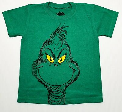 Dr. Seuss Grinch. green color  Christmas Holiday T-Shirt for kids
