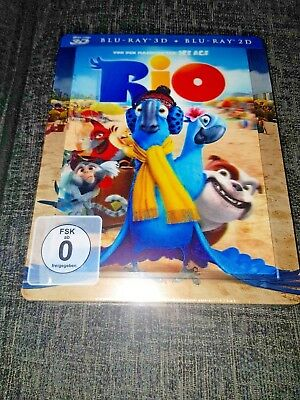 RIO 3D+2D Blu-Ray Media Market Lenticular Exclusive Limited Steelbook New&Sealed