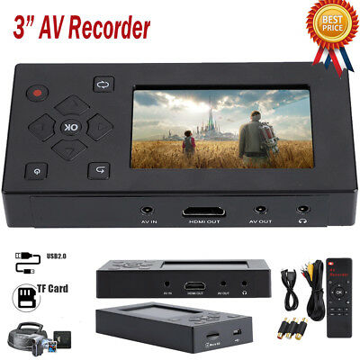 AV Recorder Audio Video Converter Convert VHS/ Camcorder Tapes to Digital USB/TF