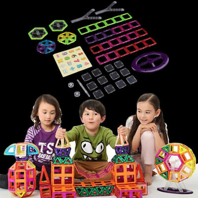 58Pc Magnetic Tiles Building Blocks Education Toys for Kids Baby Christmas Gift