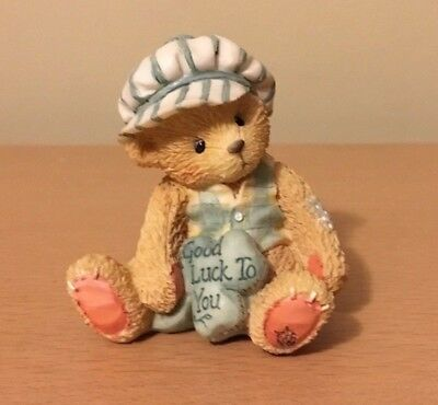 "Cherished Teddies #103896 Kevin ""Good Luck to You"" New in Box - 1994"