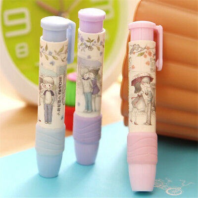 Funny Kids Creative Press Eraser Rubber Pen Shaped Fashion