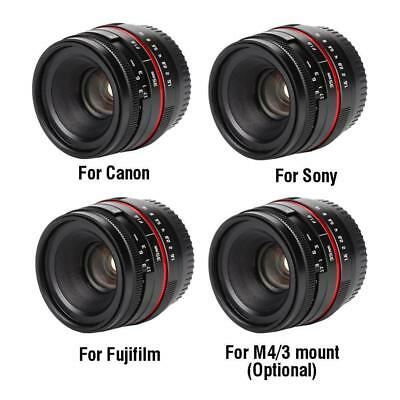 25mm f1.8 Wide Angle Manual Focus Lens for Canon /Sony Mount Mirrorless Cameras