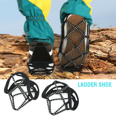 Ice Snow Anti Slip Spring Spikes Grips Grippers Crampon For Shoes Boots Overshoe