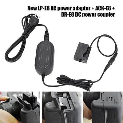 ACK-E18 Power Adapter + DR-E8 Dummy Battery DC Coupler for Canon 700D 600D 650D