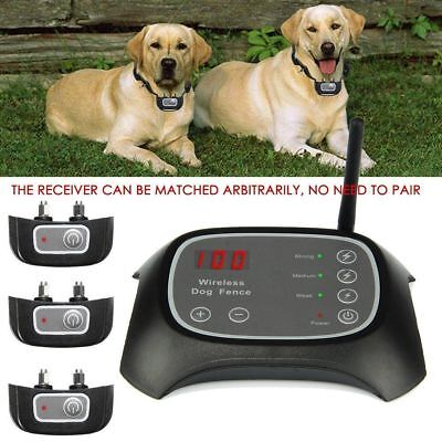LOT 1/2/3 Wireless Electric Pet Dog Fence Container System Transmitter Collar OY