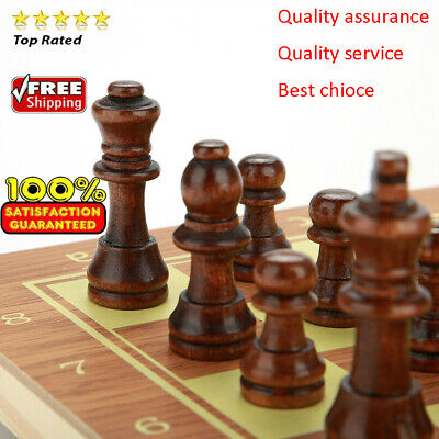 Large Folding wooden chess High Quality Chess Set standard chess Portable New~