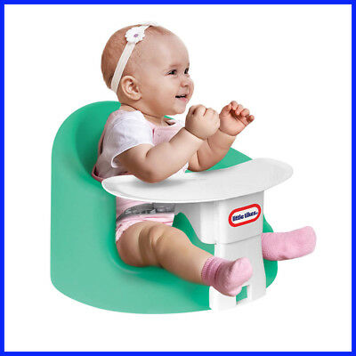 Little Tikes My First Seat Baby Infant Foam Floor Seat with Play & Feeding Tray