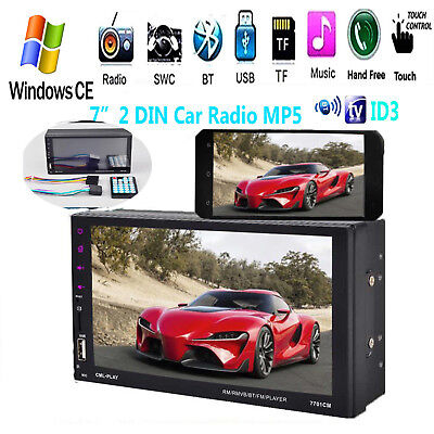 7'' 2 DIN Car Radio MP4 MP5 Player Touch Screen Bluetooth Stereo FM/TF/USB/AUX