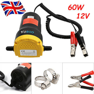 60W 12V Mini Pump Extractor Oil Fluid  Moter Van Car Auto Efficient Change Kit