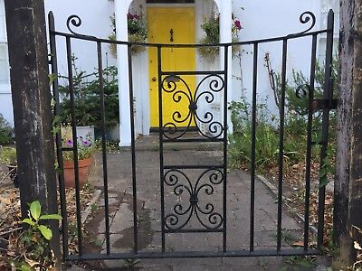 Reclaimed wrought iron garden gate.  Primed and painted black