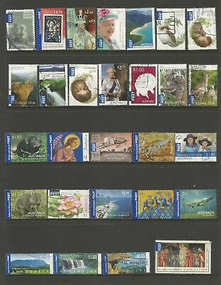 28 Australian International Post stamps including self adhesive used 1