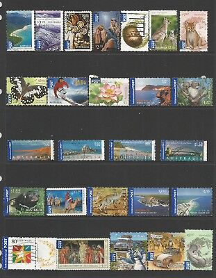 26 Australian International Post stamps including self adhesive used 2