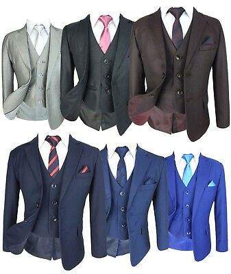 All in One Boys Formal Wedding Communion Suit Set 6 Piece Prom Party Outfit