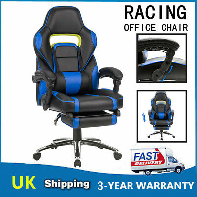 Luxury Executive Racing Gaming Office Chair 360° Swivel Computer Desk Chair UK