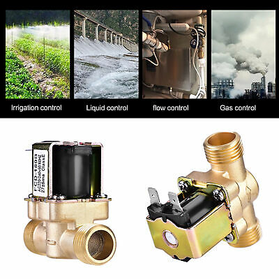 """1/2"""" AC 220V N/C Brass Electric Solenoid Magnetic Valve for Water Flow Control"""