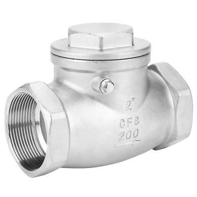 "DN50 2"" 304 Stainless Steel Female One Way Swing Check Valve for Water Oil Gas"