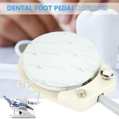 Dental Chair 4-Hole Standard Foot Control Round Pedal & Tube Hose Cable Durable