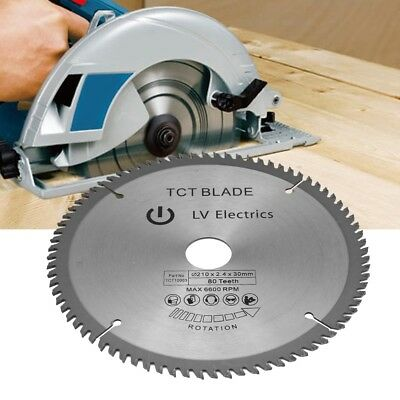 210mm 80 Teeth Bore Dia 30mm Circular Saw Blade & 3 O-rings Wood Cutting Disc GL