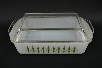Picket Fence Spears Agee Pyrex Collectible Rectangular Casserole Dish Crown Lid