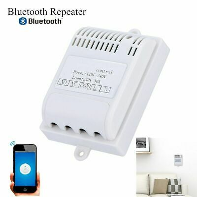 10A/30A Bluetooth Relay Switch Repeater Wireless Mobile Remote Control White GS
