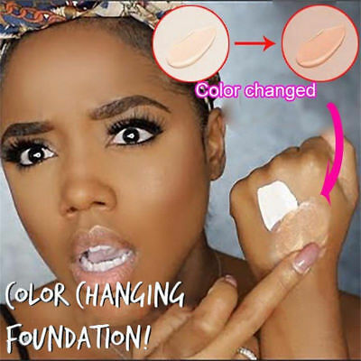 Colour Changing Foundation Makeup Base Nude Face Liquid Cover Concealer