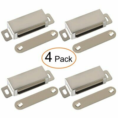 4X Magnetic Door Catch 25kg Heavy Duty Stainless Steel  Cupboard Cabinet Latch
