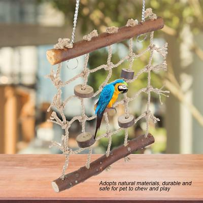 Parrot Bird Cage Game Hanging Rope Climbing Buckles Swing Ladder Biting Toys